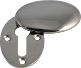 Oval Nickel Key Escutcheon