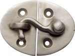 Nickel Oval Latch