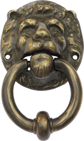 Antique Brass Lion Door Knocker