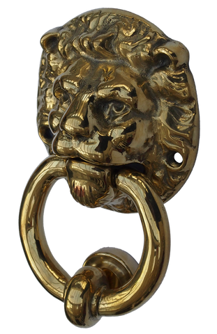 Brass Lion Door Knocker