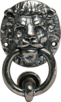 Nickel Lion Door Knocker