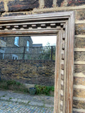 Handsome Dentil Carved Teak Mirror