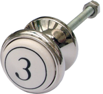 Numbered Cabinet Knob
