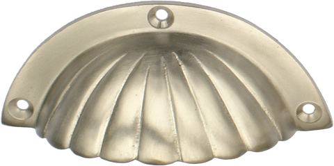 Nickel Crescent Shell Handle (2 sizes)