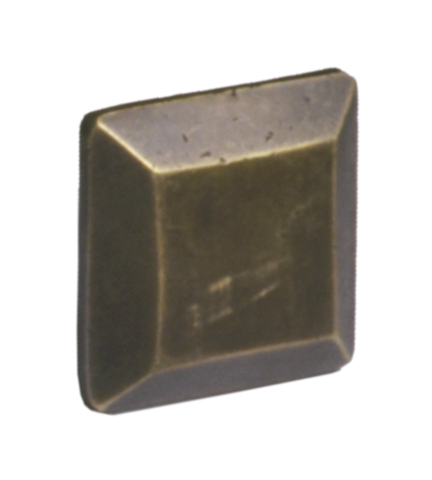 Antique Brass Bevel Square Cabinet Knob