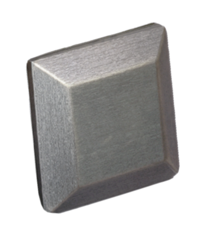 Nickel Bevel Square Pull