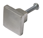 Nickel Square Cabinet Knob (2 Sizes)