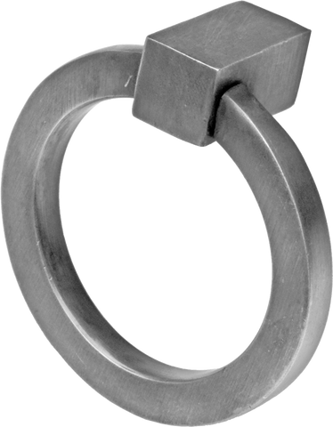 Flat Circular Ring Pull Brushed Nickel (2 sizes)