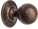 Round Antique Brass Cabinet Knob