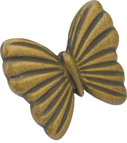 Butterfly Cabinet Pull in Antique Brass