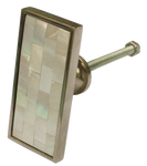 Rectangular Inlaid Mother of Pearl Cabinet Knob