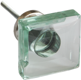 Clear Spliced Glass Cabinet Knob (2 sizes)