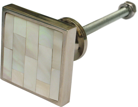 Inlaid Mother of Pearl Square Cabinet Knob ( 3 sizes)