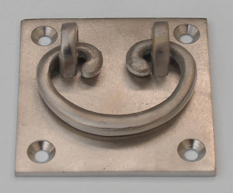 Square Nickel Drawer Pull