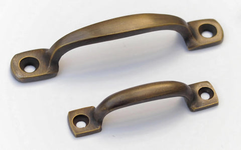Miniature Antique Brass Bar Handles