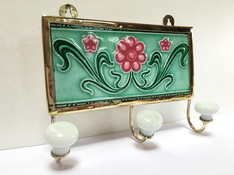 Nouveau Flower Tile as a Hook