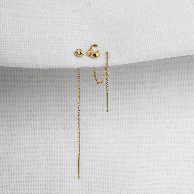Isla Single Chain Stud Earring - Kay Konecna Studio