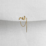 Swell Single Chain Stud Earring - Kay Konecna Studio