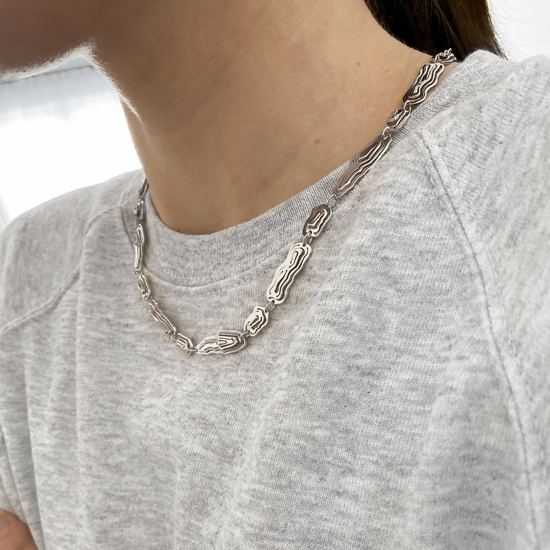 Saliana Long Necklace Silver - Kay Konecna Studio