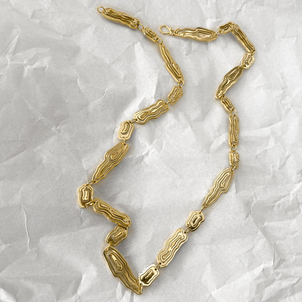 Saliana Long Necklace Gold Vermeil - Kay Konecna Studio