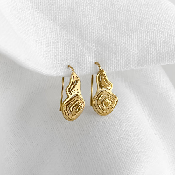 Pia Wire Hook Earrings Gold Vermeil - Kay Konecna Studio