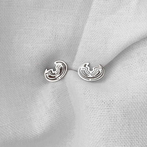 Leda Studs in Silver - Kay Konecna Studio. Independent jewellery designer based in London. Discover Women's Leda Studs in Silver. Visit the official e-store and shop with secure payments and fast worldwide shipping.
