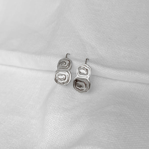 Elena Duo Wire Hook Earrings Silver - Kay Konecna Studio. Independent jewellery designer based in London. Discover Women's Elena Duo Wire Hook Earrings Silver. Visit the official e-store and shop with secure payments and fast worldwide shipping.