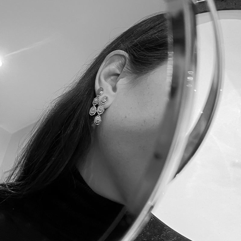 Elena Trio Drop Earrings Silver - Kay Konecna Studio. Independent jewellery designer based in London. Discover Women's Elena Trio Drop Earrings Silver. Visit the official e-store and shop with secure payments and fast worldwide shipping.