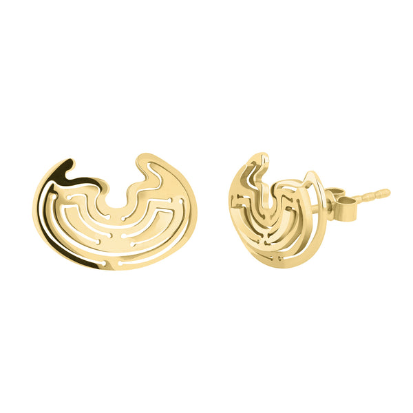 Leda Studs in Gold Vermeil - Kay Konecna Studio. Independent jewellery designer based in London. Discover Women's Leda Studs in Gold Vermeil. Visit the official e-store and shop with secure payments and fast worldwide shipping.