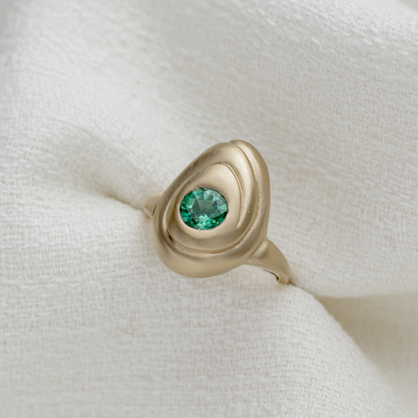 Emerald Almond Ring - Kay Konecna Studio. Independent jewellery designer based in London. Discover Women's Emerald Almond Ring. Visit the official e-store and shop with secure payments and fast worldwide shipping.