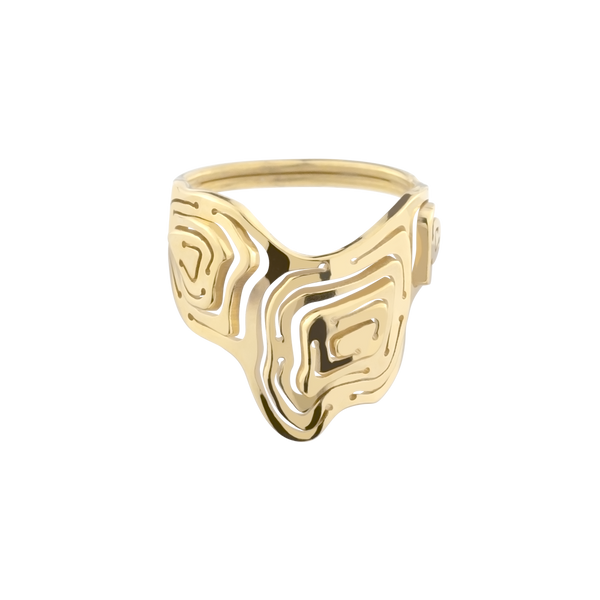 Pia Shield Stacking Ring Gold Vermeil - Kay Konecna Studio