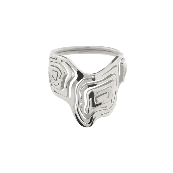 Pia Shield Stacking Ring Silver - Kay Konecna Studio