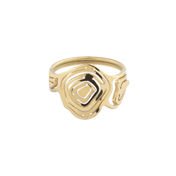 Pia Trilogy Stacking Ring Gold Vermeil - Kay Konecna Studio