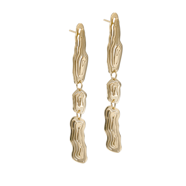 Saliana Drop Earrings Gold Vermeil - Kay Konecna Studio
