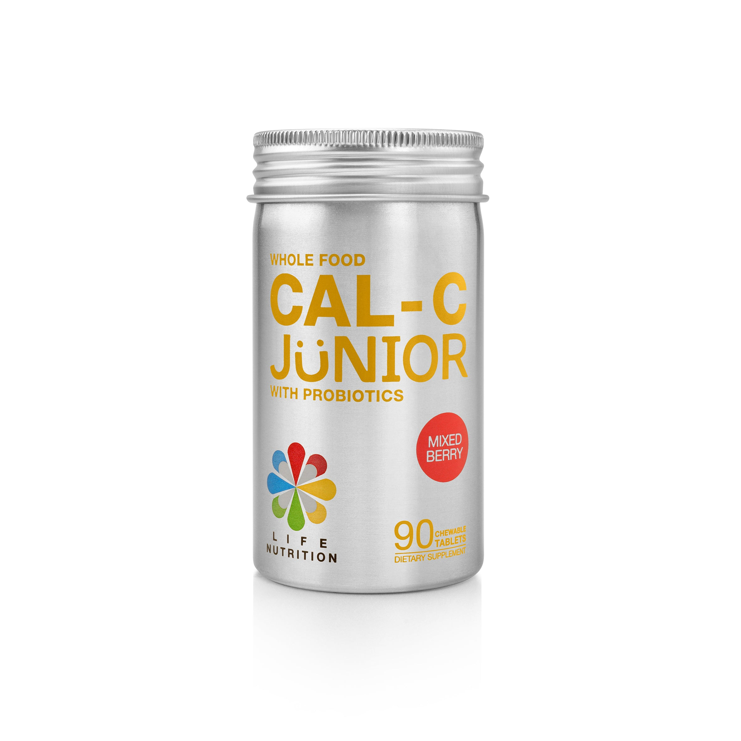 WHOLE FOOD CAL-C JUNIOR WITH PROBIOTICS | BERRY FLAVOR
