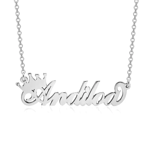Personalized Queen Crown Name Necklace