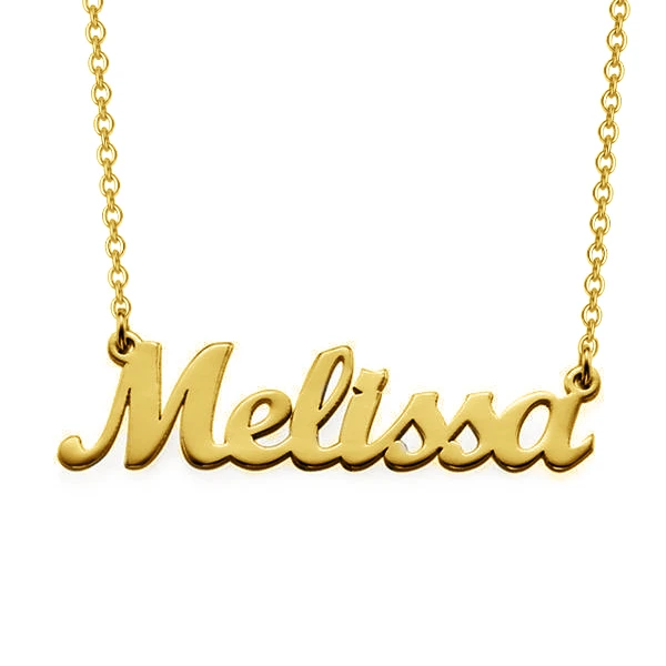 Personalized Curved Script Name Necklace