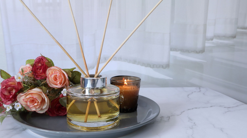 diffuse romantic essential oils into your space to set the mood for Valentine's Day