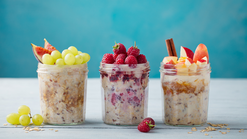 overnight oats with chia are an easy and creamy breakfast