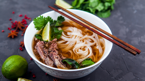 homemade pho brings dense nutrition in a delicious, easy-to-eat dish