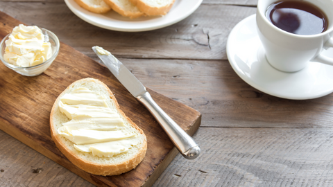 eat butter with bread and other carbs to slow carbohydrate absorption in your gut