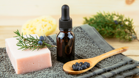 juniper essential oil can ground emotions and even complexion