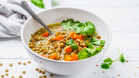 with its superstar ingredients, this lentil soup can beat back your anxiety