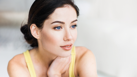 woman with clear perfect skin following rejuvenating facial