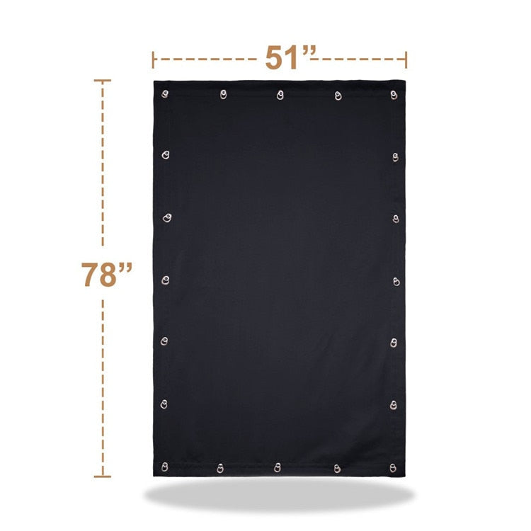 Temporary Blackout Blind Curtain For Window with Adjustable Suction Cups