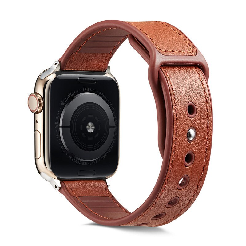 Silicone+Leather band For Apple watch 38 mm 42mm  iWatch 5 band 44mm 40mm Sports watchband bracelet strap apple watch 3/4/2/1