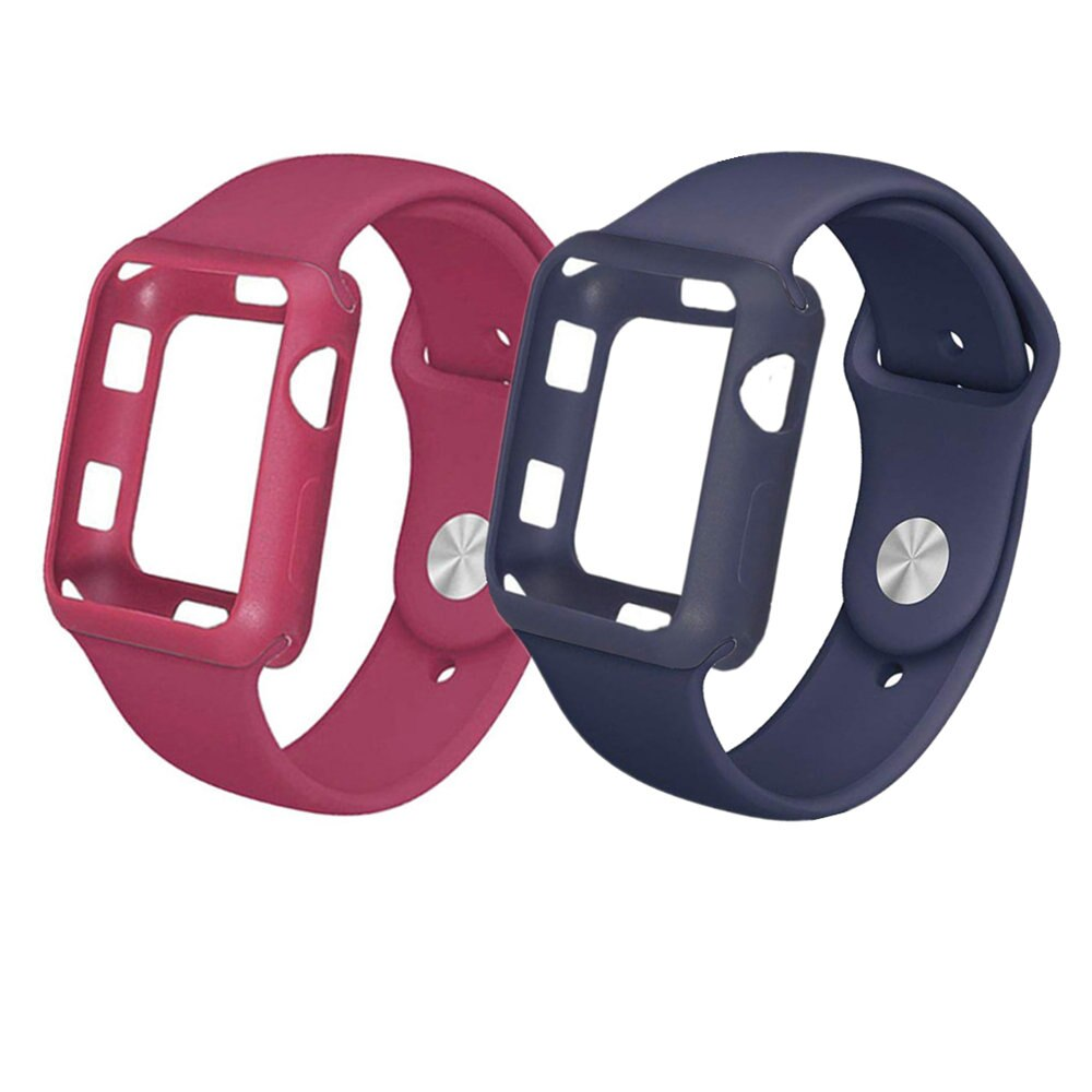 Case+strap for apple watch band 42mm/38mm iwatch band bracelet watch case Silicone protective cover+watchband for apple watch 3