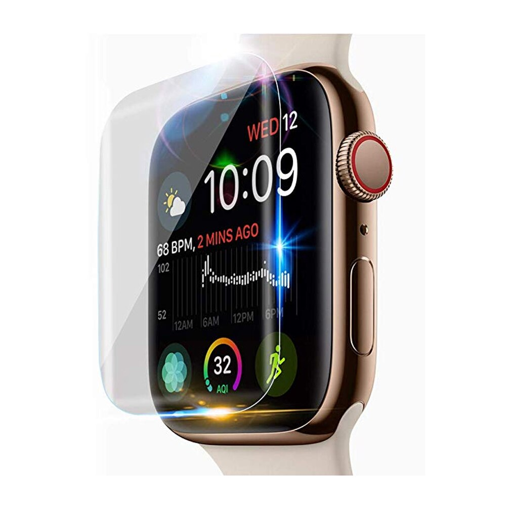 Screen Protector For Apple Watch 4 44mm 40mm iWatch series 3 2 1 42mm 38mm 9D Anti-Shock Full Hydrogel Film watch Accessories