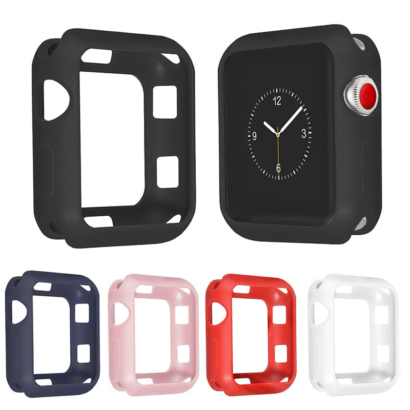 Bumper for Apple watch case cover Apple watch 5 4 case 44mm 40mm iwatch case 42mm 38mm series 3 2 1 Silicone case Accessories 44