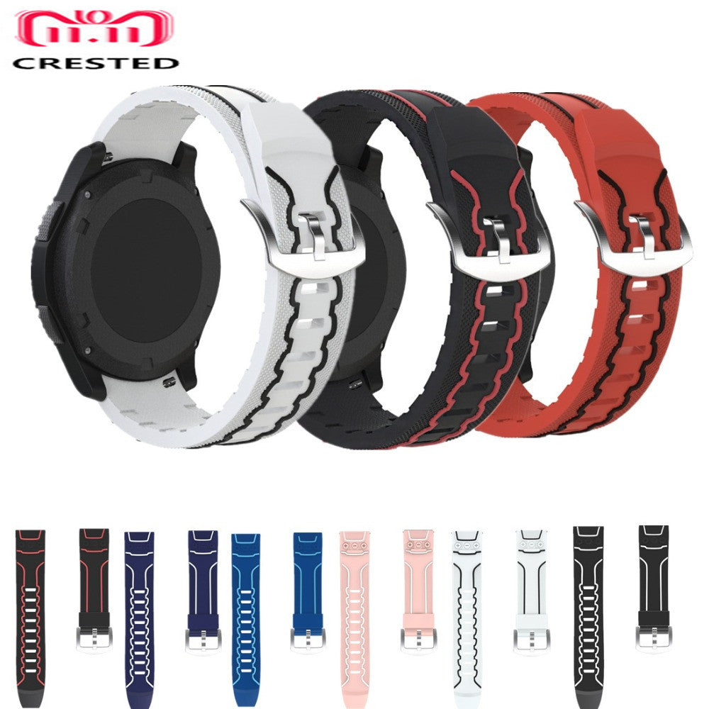 Sport Silicone Watch Strap for Samsung Gear S3 Frontier/Classic Band  Replacement Wrist watchband Bracelet clock Accessories